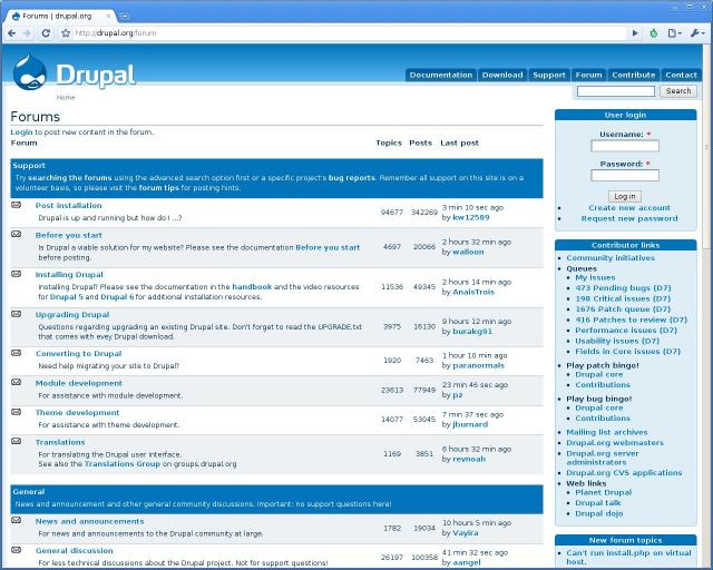 Drupal Forum Demo
